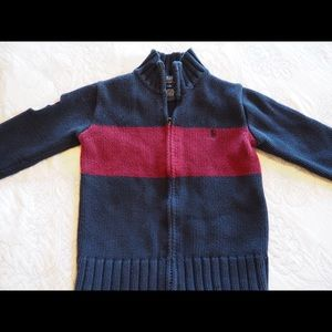 POLO Zip-up Sweater